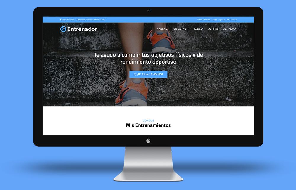 Web Express Entrenador Personal