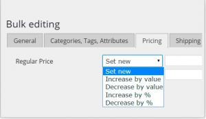 modificar precios de productos a la vez