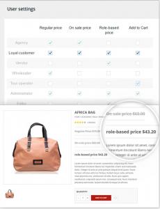 aplicar diferentes precios segun usuario en tienda online