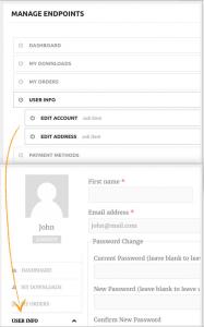 como personalizar pagina mi cuenta en woocommerce