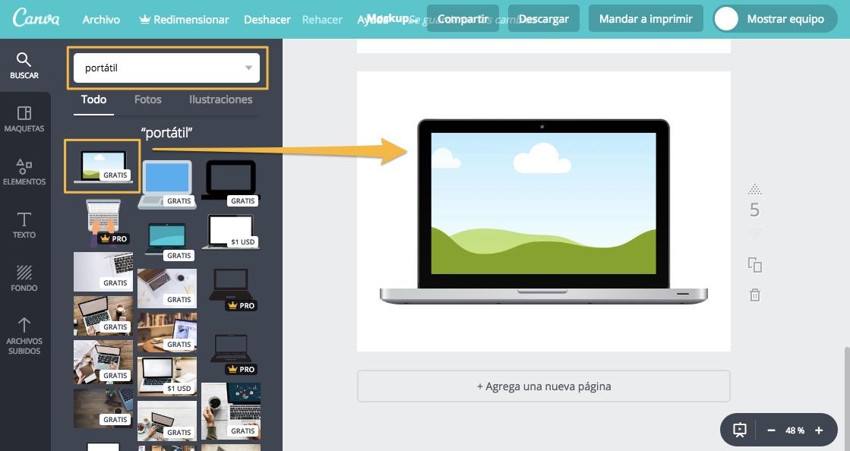Incrementar Valor Percibido Cursos Online Crear Mockup con Canva